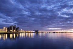 Horizon de Reykjavik Images libres de droits