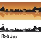 Horizon de Rio de Janeiro illustration stock