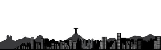 Horizon de Rio de Janeiro illustration libre de droits