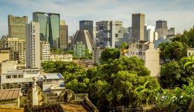 Horizon de Rio de Janeiro du centre, Brésil Photo stock