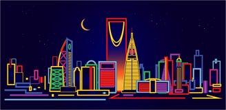 Horizon de Riyadh Arabie Saoudite illustration de vecteur