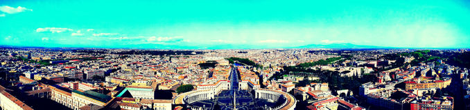 Horizon de Rome, Vatican, Italie - style mobile images stock