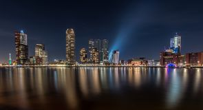 Horizon de Rotterdam photographie stock libre de droits