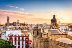 Horizon de Séville, Espagne Photographie stock libre de droits