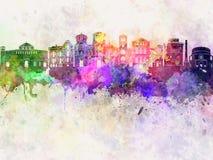 Horizon de Salonique dans l'aquarelle illustration de vecteur