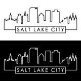 Horizon de Salt Lake City style linéaire Photos libres de droits