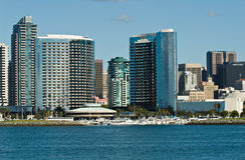 Horizon de San Diego Photos libres de droits