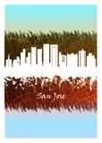 Horizon de San José bleu et blanc illustration libre de droits