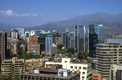 horizon de Santiago Photos stock