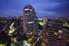 Horizon de Santiago de Chili Photo stock