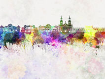 Horizon de Santiago de Chile V2 dans l'aquarelle illustration libre de droits