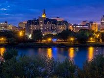 Horizon de Saskatoon Photographie stock