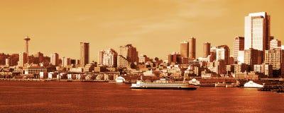 Horizon de Seattle Photos stock