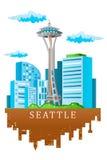 Horizon de Seattle Photographie stock