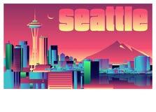 Horizon de Seattle illustration de vecteur