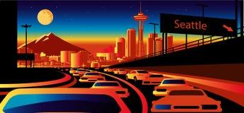 Horizon de Seattle Arabie illustration de vecteur