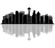 Horizon de Seattle illustré illustration libre de droits