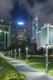 Horizon de secteur central en ville de Hong Kong Image libre de droits