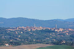 Horizon de Sienne, Toscane Photo libre de droits