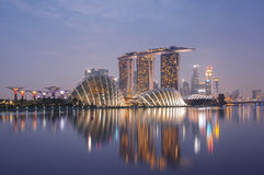 Horizon de Singapour Photos stock