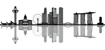 Horizon de Singapour illustration stock