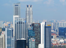 Horizon de Singapour Images libres de droits