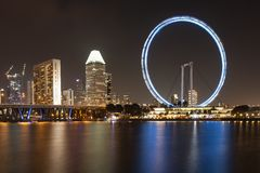 Horizon de Singapour Photographie stock
