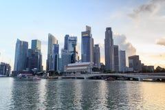 Horizon de Singapour au compartiment de marina Photo stock
