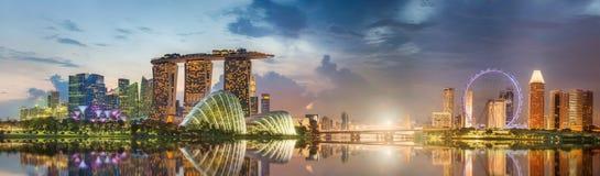 Horizon de Singapour et vue de Marina Bay photographie stock libre de droits