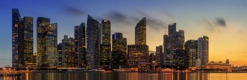 Horizon de Singapour et vue de Marina Bay Image stock