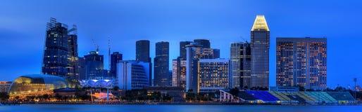 Horizon de Singapour et vue de Marina Bay Images stock