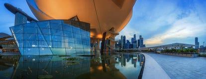 Horizon de Singapour et vue de Marina Bay Images libres de droits