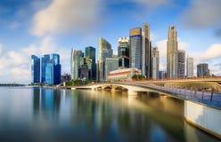Horizon de Singapour et vue de Marina Bay Photos libres de droits