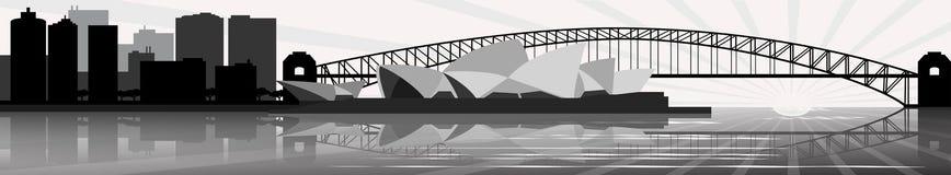 Horizon de Sydney - drapeau - vecteur Photographie stock libre de droits