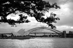 Horizon de Sydney Opera House et de Sydney Photos stock