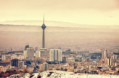 Horizon de Téhéran Photographie stock libre de droits