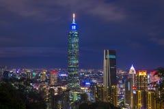 Horizon de Taïpeh, Taïwan Images stock