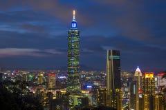 Horizon de Taïpeh, Taïwan Image libre de droits
