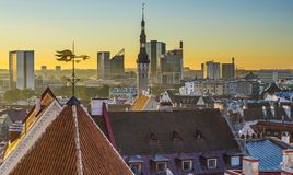 Horizon de Tallinn Estonie Images stock
