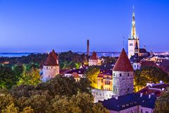 Horizon de Tallinn Estonie Photos libres de droits