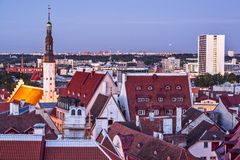 Horizon de Tallinn Estonie Photographie stock