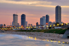 Horizon de Tel Aviv Photo libre de droits