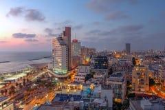Horizon de Tel Aviv, Israël images stock