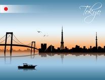 Horizon de Tokyo Photographie stock
