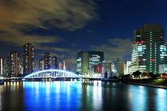 Horizon de Tokyo la nuit Photos libres de droits