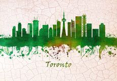 Horizon de Toronto Canada illustration stock