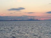 horizon de Toronto de lac Ontario Images libres de droits