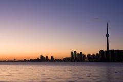 Horizon de Tronto la nuit Image stock