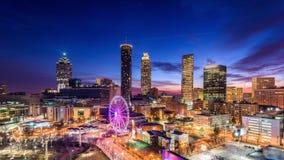 Horizon de van de binnenstad van Atlanta, Georgië, de V.S. stock videobeelden