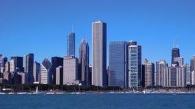 Horizon de van de binnenstad van Chicago stock fotografie